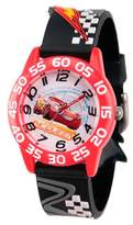 Cars Boys' Disney 3 Lightning McQueen Red Plastic Time Teacher Watch - Black