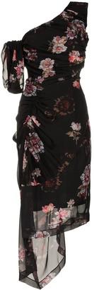Preen by Thornton Bregazzi ada floral print one shoulder silk dress