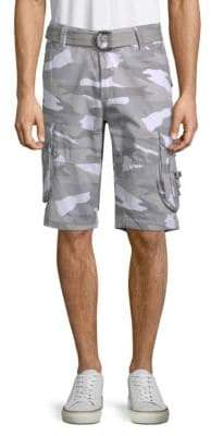 X-RAY Jeans Camo-Printed Cotton Shorts