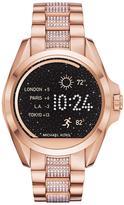 Michael Kors MKT5018 Access Bradshaw Pavé Rose Gold Tone Smartwatch
