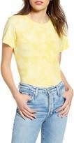 A Gold E Agolde Linda Tie Dye Boxy Organic Cotton T-Shirt