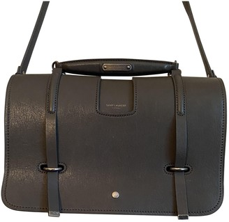 Saint Laurent Charlotte Messenger Grey Leather Handbags