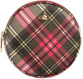 Vivienne Westwood Derby Round Plaid Print Faux Leather Bag