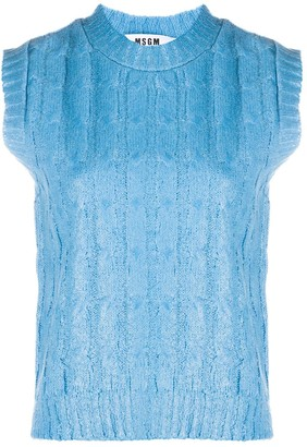 MSGM Sleeveless Knitted Top