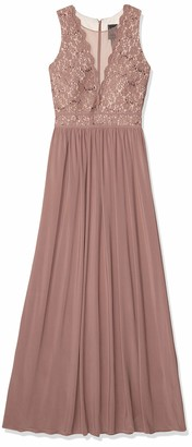 Night Way Nightway Women's Bodice Power Mesh Inset Lace Jersey Skirt Missy
