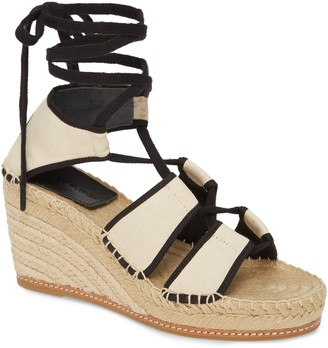 Tory Burch Ankle Tie Wedge Espadrille