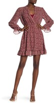 Threads And States Floral Ditsy Print Ruffle Trim Dress