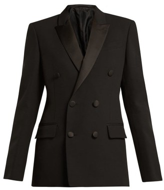 Connolly - Double-breasted Crepe Tuxedo Jacket - Womens - Black