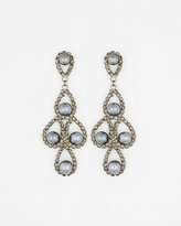 Le Château Gem & Pearl-Like Chandelier Earrings