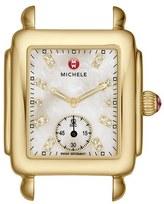 Michele Women's Deco 16 Diamond Dial Gold Watch Head, 29Mm X 31Mm