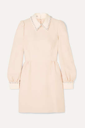 Miu Miu Crystal-embellished Cady Mini Dress - Blush