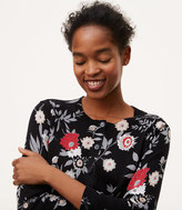 LOFT Botanical 3/4 Sleeve Signature Cotton Cardigan