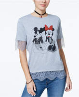 Freeze 24-7 Juniors' Mickey & Minnie Graphic T-Shirt