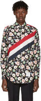 Thom Browne Multicolor Classic Stripes and Floral Outline Shirt