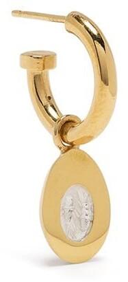 VICTORIA STRIGINI Baby Egg gold hoop earring