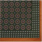Eton Medallion Print Silk Pocket Square