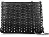 Christian Louboutin Triloubi Spiked Leather Shoulder Bag - Black