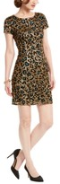 Adrianna Papell Sequin Leopard-Print Dress