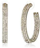 """Amrita Singh Victorian"""" /Clear Anne Crystal Hoop Earrings"""