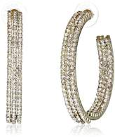 "Amrita Singh Victorian"" Gold/Clear Anne Crystal Hoop Earrings"