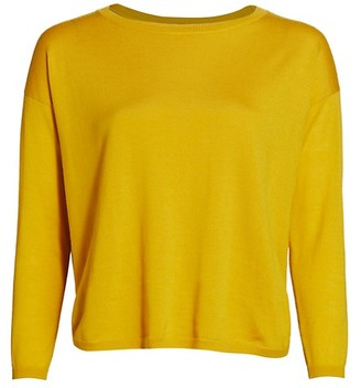 Akris Punto Crewneck Wool Knit Pullover Sweater