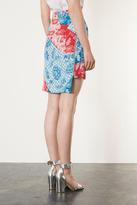 Topshop Oriental Zip Pencil Skirt