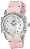 Elini Barokas Women's 'Spirit' Swiss Quartz Stainless Steel Casual Watch (Model: ELINI-20005-02-PKS)