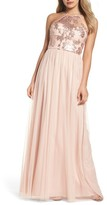 Amsale Women's Sheridan Sequin Halter Dress