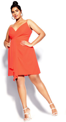 City Chic Delectable Dress - coral