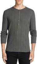 John Varvatos Start USA Waffle Knit Long Sleeve Henley Tee - 100% Bloomingdale's Exclusive