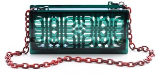 Vitro Atelier Neptune Clutch In Emerald Green