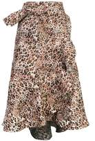 Johanna Ortiz leopard print wrap around skirt
