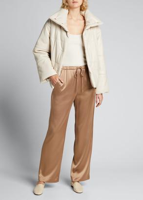 Nanushka Hide Vegan Leather Short Puffer Jacket