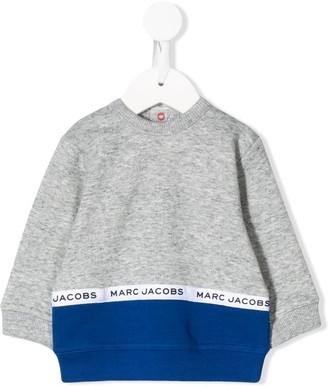Little Marc Jacobs Logo Lined Colour Blocked Sweatshirt