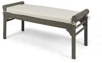 Christopher Knight Home Nelson Wood Bench with Cushion