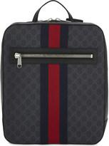 Gucci Web stripe Supreme GG canvas backpack