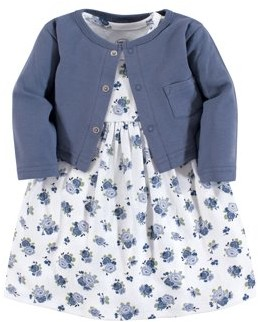 Luvable Friends Toddler Dress & Cardigan (Baby Girls)