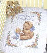 """Dimensions Baby Hugs Quilt Stamped Cross Stitch Kit - 43"""" x 34"""" Sweet Prayer"""