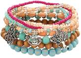 Mudd Bead, Hamsa, Tree & Evil Eye Stretch Bracelet Set