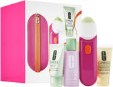 Clinique Clean Skin, Great Skin Sonic System Purifying Cleansing Brush Set for Drier Skins