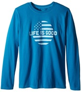 Life is Good Kids Dot Flag Long Sleeve Tee (Little Kids/Big Kids)