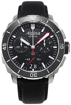 Alpina Al-372lbg4v6 Seastrong Diver 300 Stainless Steel Rubber Strap Watch, Black