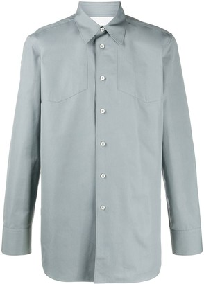 Jil Sander Panelled Long Sleeve Cotton Shirt