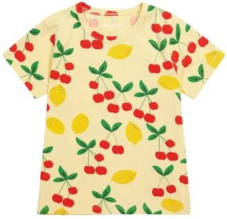Mini Rodini Cherry Lemonade printed stretch-cotton T-shirt