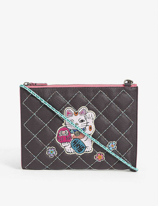 M Industry Frida leather cross-body bag