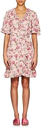 By Ti Mo byTiMo Women's Stem Roses-Print Crepe Wrap Dress