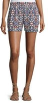 Joie Sibylle Butterfly-Print Silk Shorts