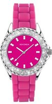 Sekonda Women's Quartz Watch with Pink Dial Analogue Display and Pink Silicone Strap 9903.27