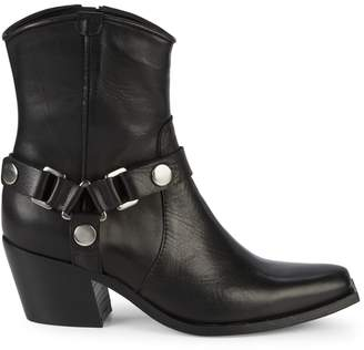 Charles David Polo Western Leather Booties