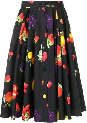 MSGM Fruit Print Skirt